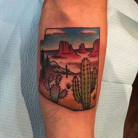 Arizona Cactus Tattoo by Golden Rule