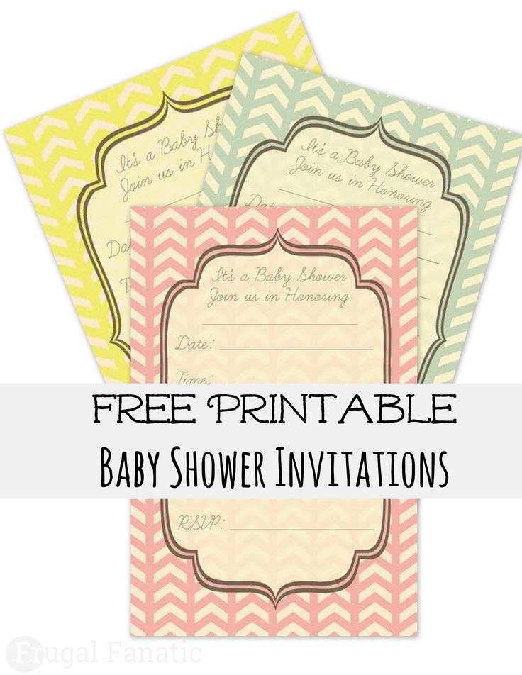 Print and use our free baby shower invites. Save yourself money by printing these cute invitations. They are simple and can go with any baby shower theme.