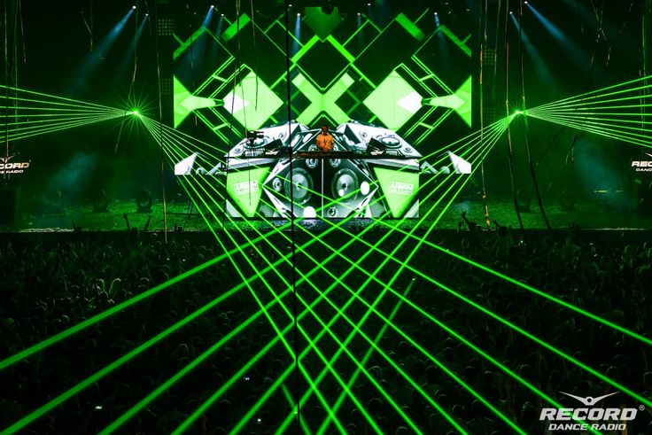 #lasershow on Radio Record 18th Birthday party, #show for #ArminVanBuuren — by #Dream Laser
