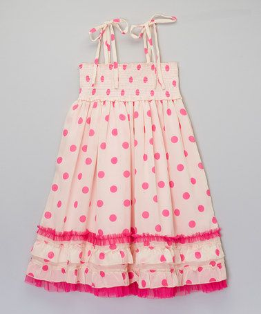 Loving this Fuchsia Polka Dot Ruffle Dress - Infant, Toddler & Girls on #zulily! #zulilyfinds