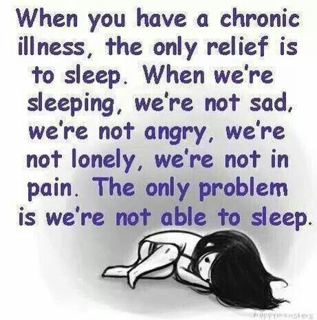Invisible Illness ¥ & Chronic Pain! Degenerative Disc Disease w/Auto Immune Disease... Can't sleep