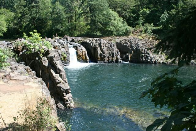 One of my fave Oregon swimming holes:  Wildwood Falls