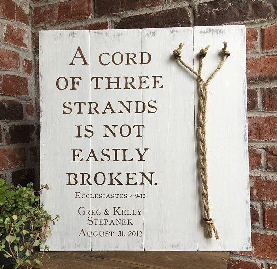 A Cord Of Three Strands Ecclesiastes 4 9 12 Rustic White