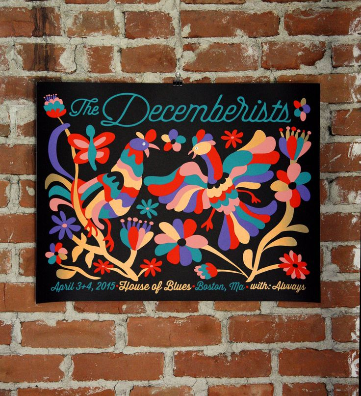 The Decemberists – House of Blues Boston Gig Poster