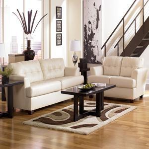 Nebraska Furniture Mart Ashley Ivory Bonded Leather Sofa Amp Loveseat Living Room Pinterest