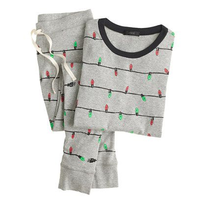"Pj's. Jammies. Jam-jams. Sleepy suits. No matter what you call them, our pajamas are anything but a snoozefest. Even better? You'll find this festive print in crewcuts and in our baby collection too—so yeah, your holiday picture taking just got cuter. <ul><li>Top hits at hip.</li><li>28"" inseam.</li><li>Cotton.</li><li>Long sleeves.</li><li>Elastic waistband.</li><li>Machine wash.</li><li>Import.</li><li>Online only.</li></ul>"