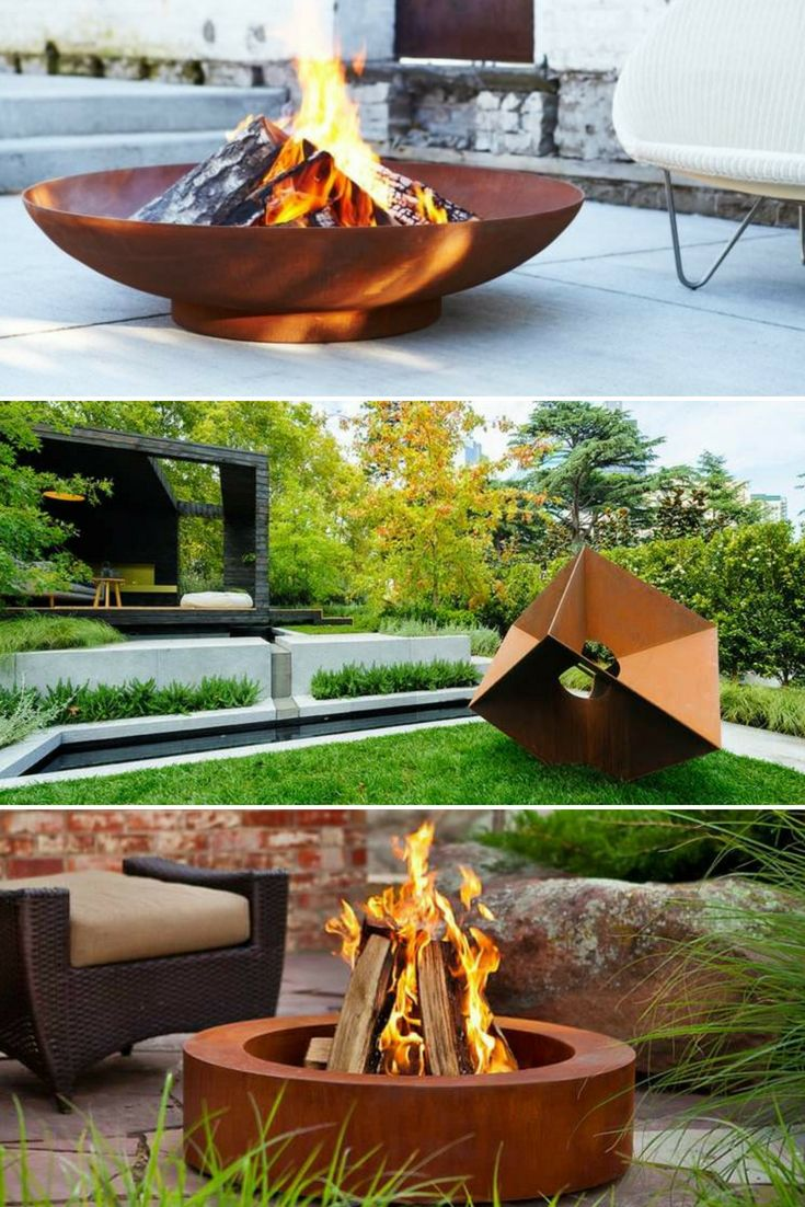 Want to transform your garden into a pleasant and modern outdoor space consult our ideas of decoration with steel corten a very trendy material