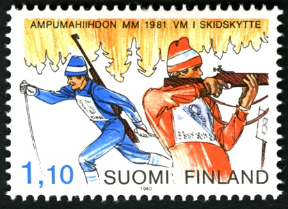 Biathlon is cross-country skiing and rifle shooting combined. Finland is a big one.