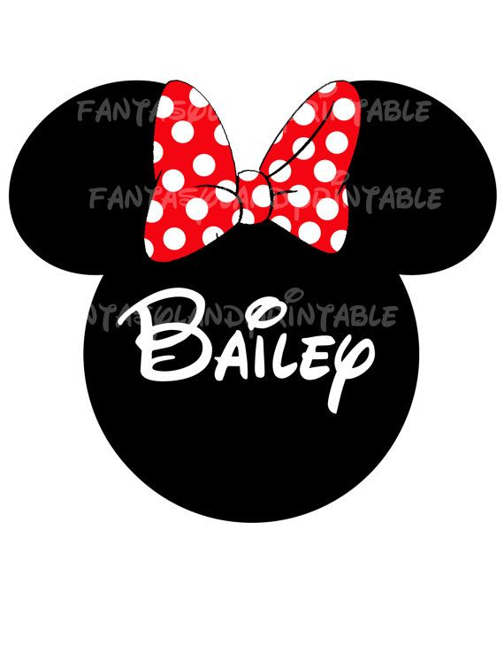 Minnie Mouse Classic Red Bow for DIY Printable Iron Transfer family  Disney trip Applique Vacation Shirt