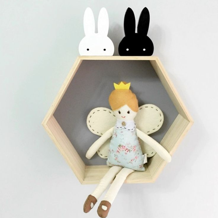 Cute black and white rabbits available as a decoration or wall hook on Desa Life. www.desa.life