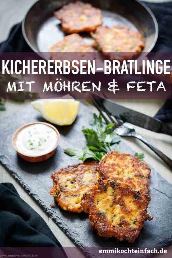 Kichererbsenpastetchen mit Möhren und Feta – www.emmikochtinf …   – Rezepte
