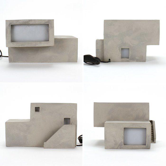 テーブルランプ照明ライト家型模型LEDおうちミニチュアフロアランプコンクリートおしゃれかわいいARCHILAMPHorizon立方体デスクライト送料無料