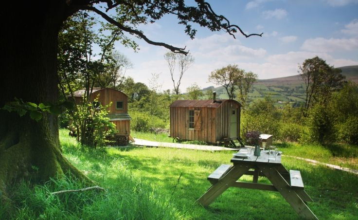 Last Minute Luxury Glamping Wales   Last Minute Glamping in Brecon Beacons Wales   Black Mountains Shepherds Huts