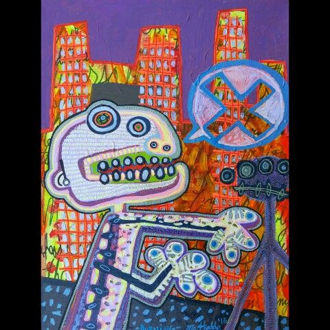 ''Burning''- 20'' x 16'' acrylic on canvas