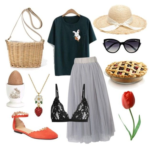 """""""Easter time"""" by koczuba-anna on Polyvore featuring WithChic, Saks Fifth Avenue, La Perla, Kate Spade, Burton + Burton and Pier 1 Imports"""