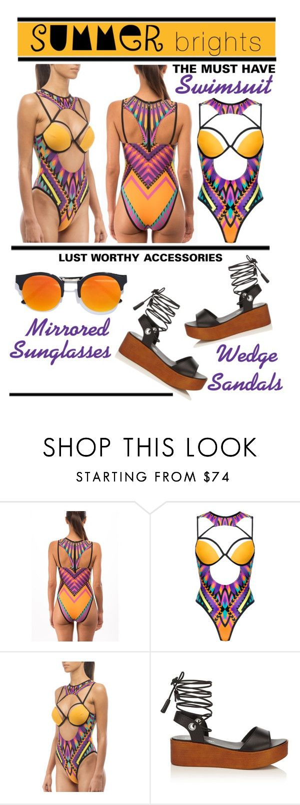 """""""Summer Brights - The Swimsuit Edition"""" by latoyacl ❤ liked on Polyvore featuring Miss Selfridge and LULUS"""
