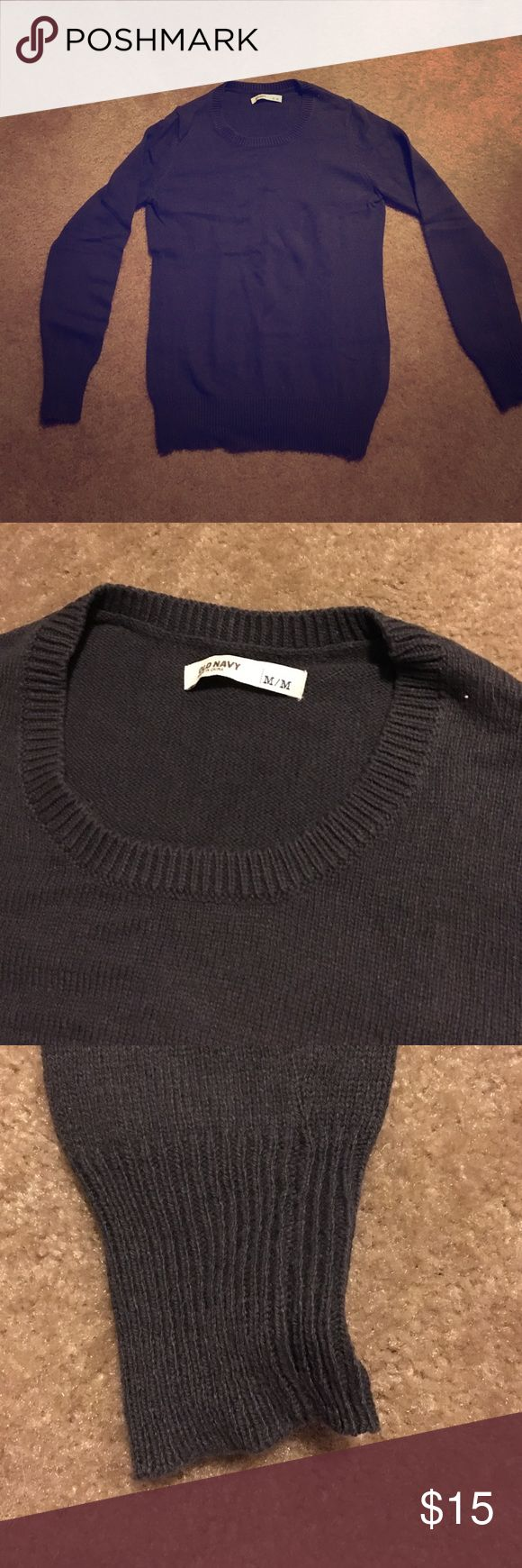 Basic dark gray old navy sweater NWOT and never worn. No trades and all sales are final. Old Navy Sweaters Crew & Scoop Necks
