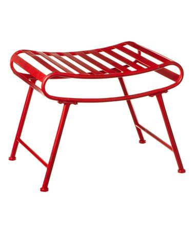 Another great find on #zulily! Distressed Red Ottoman Stool #zulilyfinds