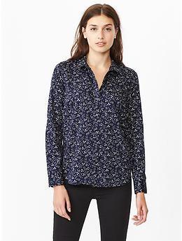 Fitted boyfriend printed shirt | Gap