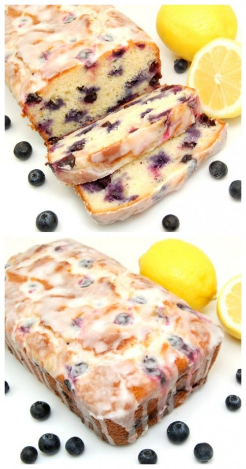 Lemon-Blueberry Yogurt Loaf - This was AMAZING. Relatively easy. Make sure you make the syrup and the glaze too! It really added something.