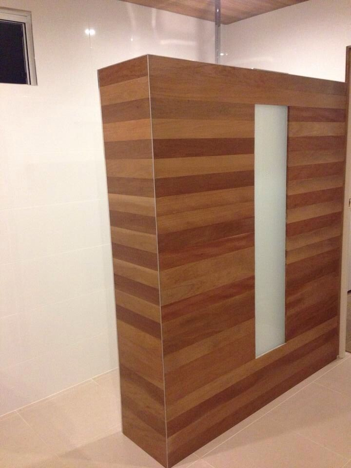 Timber shower screen