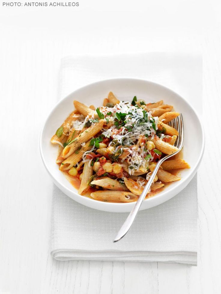 Whole-Grain Pasta with Chickpeas and Escarole recipe from Food Network Kitchen via Food Network