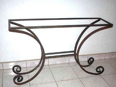 Ringos wrought iron console table base