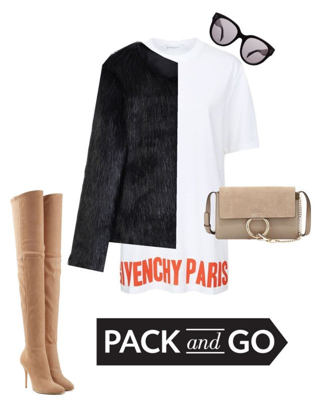 """""""Pack & Go p.2"""" by luluuheree on Polyvore featuring Balmain, CÉLINE, Givenchy, Chicwish and Chloé"""
