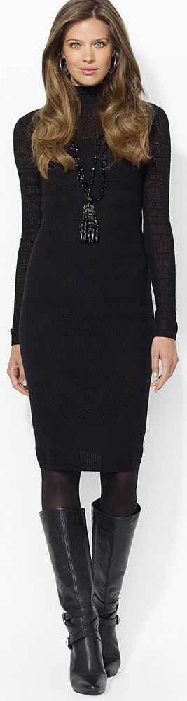 Ralph Lauren Open Stitch Sweater Dress