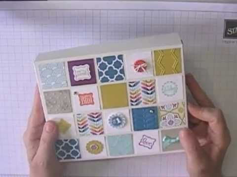 A video tutorial on how to make a standard card box from one sheet of 12 x 12 card stock.  Great for recycling those 'backing sheets' from packets of Stampin' Up! DSP.