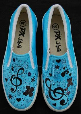 Painting shoes Music pattern Only 125k-135k