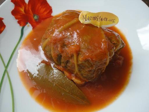 Choux farcis (recette polonaise que je tiens de ma mamie) - Recette de cuisine Marmiton : une recette