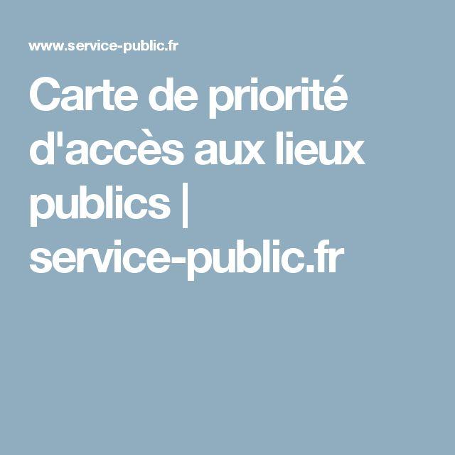 Carte de priorité d'accès aux lieux publics | service-public.fr