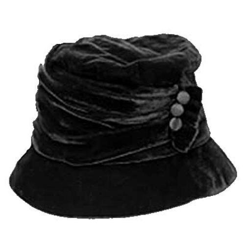 Large Brim Black Velvet Ruched Bucket Hat W/Button Trim Luxury Divas,HATS to buy just click on amazon here http://www.amazon.com/gp/product/B001G6A12O?ie=UTF8=213733=393177=B001G6A12O=shr=abacusonlines-20A REAL DEAL http://a-real-deal.com