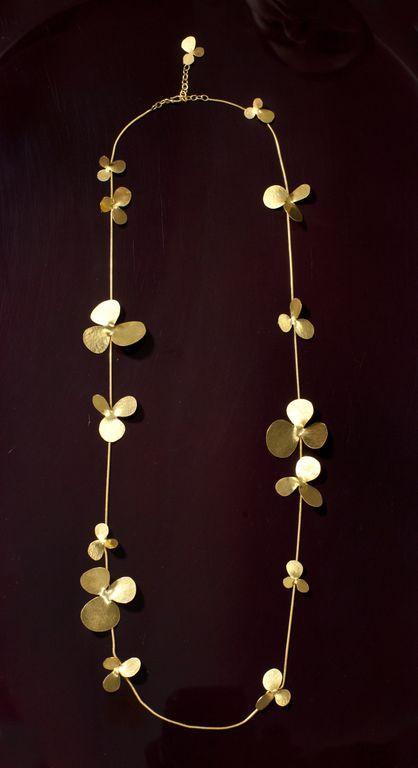 Herve Van Der Straeten Long Petal Necklace