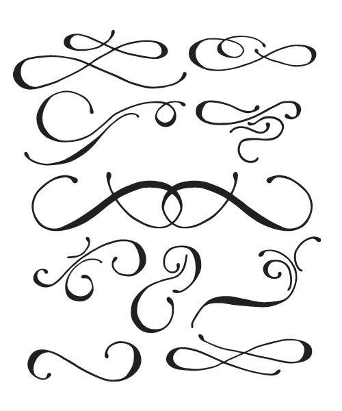 Free Vectors - 16 Hand Drawn Vector Swooshes