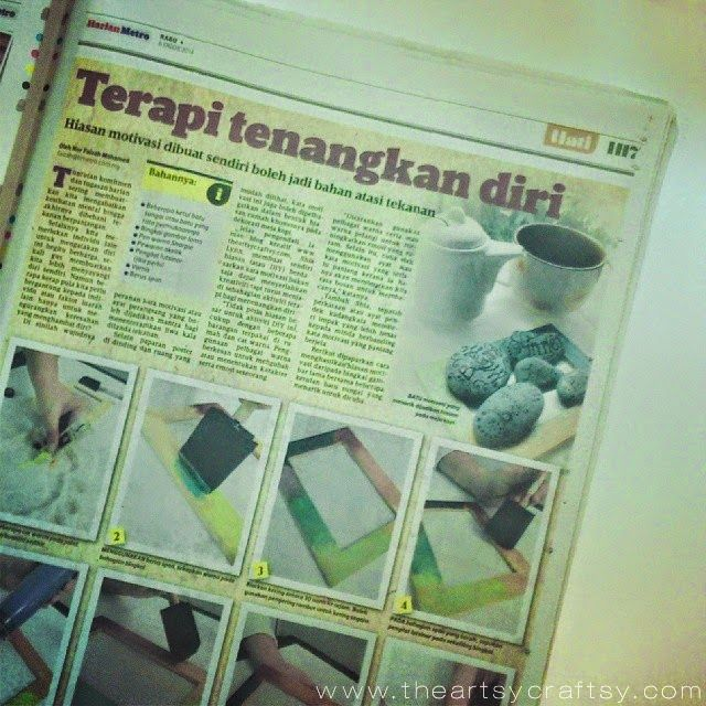 Featured in: Harian Metro newspaper, DIY Table Motivation Craft Decor : The Artsy Craftsy