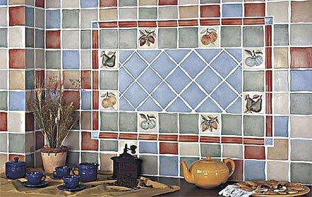 Panel in tiling with accents