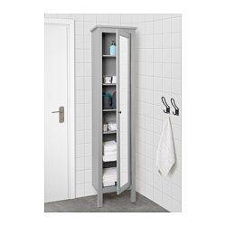 IKEA - HEMNES, Armoire haute à porte miroir, gris, , Tablettes à hauteur réglable. À adapter selon vos besoins.Miroir doublé d'une pellicule de protection antiéclats au dos, ce qui réduit les risques de blessure si le miroir est cassé.