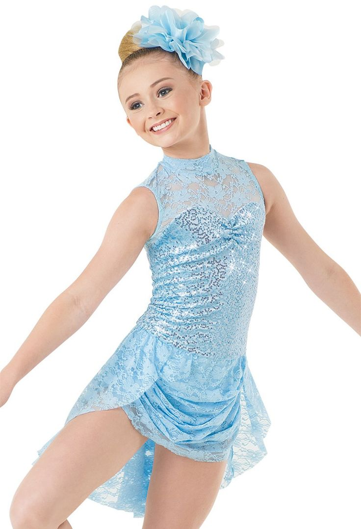 Weissman™   Lace Sequin Velvet Dress