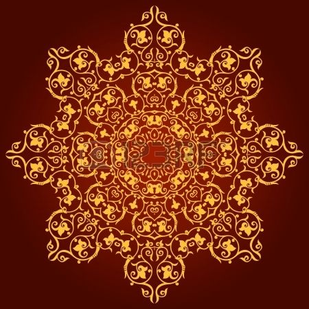Motif persan-islamo-arabe-turque traditionnelle indienne