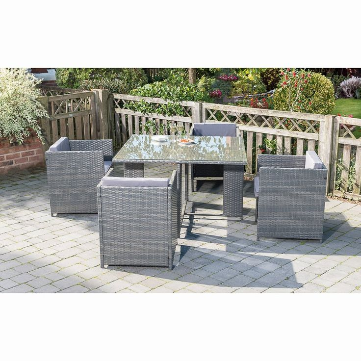 Sorrento Cube Patio Set 5pc   Garden Furniture - B&M in ...