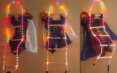 Reyes Magos trepadores 90 cms En Escalera Luminoso.#Grandetalles