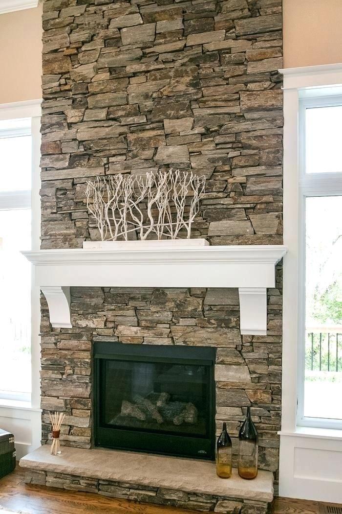 Stone Veneer Fireplace Ideas Natural, Stone Tile Fireplace Surround