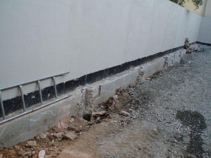 lokální optimalizace základu zdi pro zvětšení prokořenitelného prostoru
