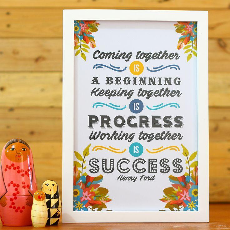 Working Together Is Success (APR16-01) Bekerja bersama-sama pasti menyenangkan meskipun kadang banyak pergesekan disana-sini. Hiasan dinding ini bisa menjadi pilihan untuk menghiasi dinding kantor atau ruang kerja Anda, supaya tim kerja Anda semakin bersemangat.