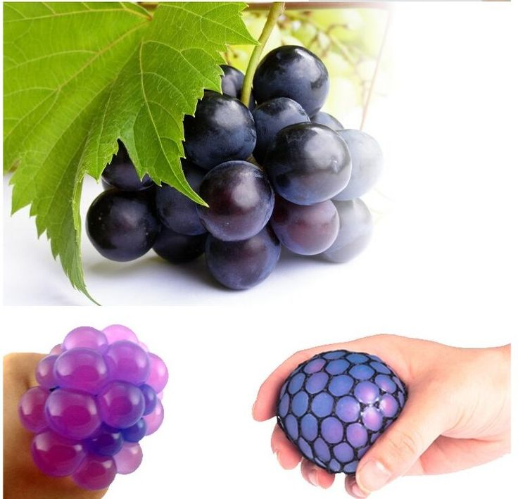 Anti Stress Grape Ball Mesh Squish Morph Ball Squishy Tricky Nausea Squeeze Pinch Toy Gags Practical Jokes Office Decompression
