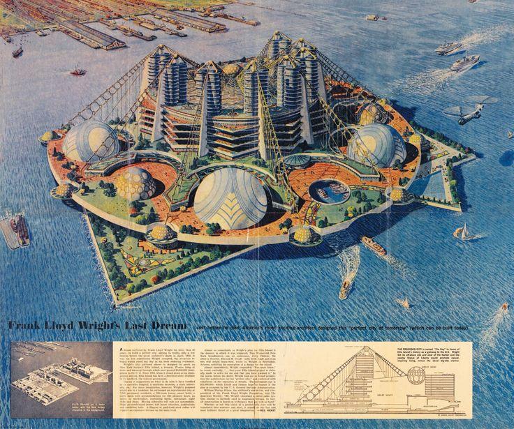 Ellis Island. Frank Lloyd Wright.1959