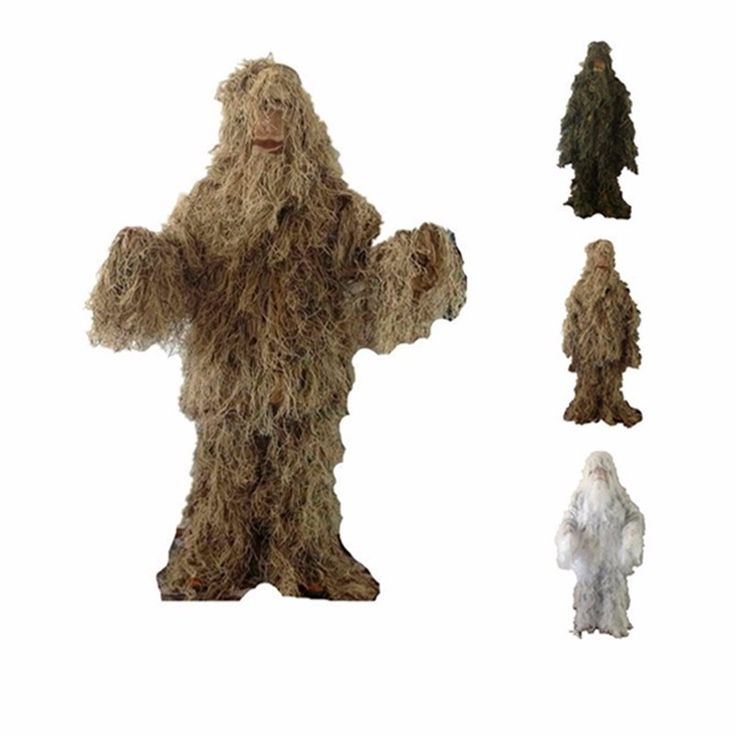 48.69$  Watch now - http://alihe9.shopchina.info/go.php?t=32659501947 - VILEAD 3 Colors Camouflage Hunting Ghillie Suit Secretive Huntiing Clothes Sniper Suit Camouflage Clothing Army Airsoft Uniform 48.69$ #shopstyle