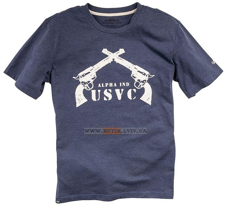 Футболка Pistol Tee Alpha Industries (Heather Navy)  Розміри: L,XL  Ціна: 24 $